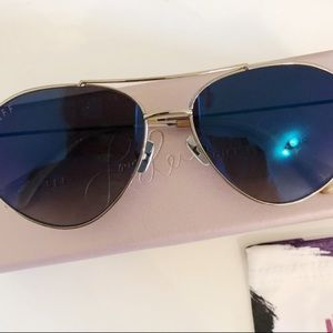 BRAND NEW LAURA LEE X DIFF EYEWEAR AVIATORS